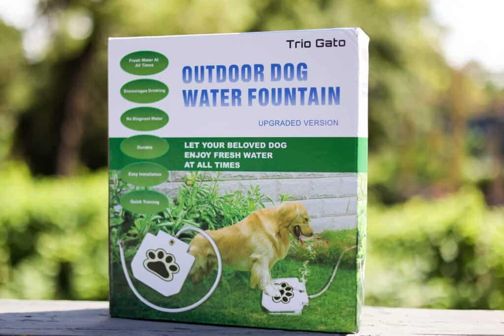 Trio Gato Outdoor Dog Water Fountain